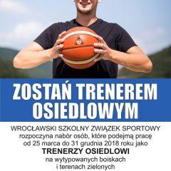 Ruszyła właśnie rekrutacja na Trenera Osiedlowego!