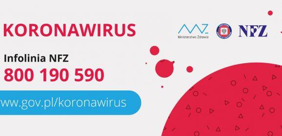Koronawirus: działamy, zapobiegamy!